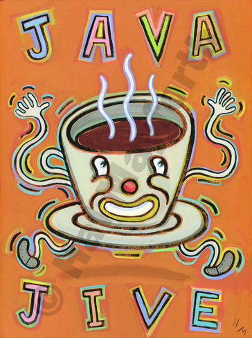Humorous coffee print Java Jive